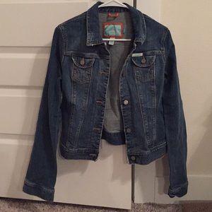 Hollister Distressed Denim Jacket, size L